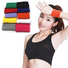 Sweatbands Terry Cloth Cotton Wrist Sweat Band Yoga Workout Running Wristband