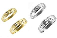 Gold His & Her 14k Solid Yellow White Gold Wedding Ring Band Set Free Ship