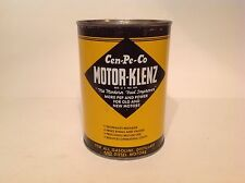Vintage Cen-Pe-Co Motor Klenz Quart Can empty Metal tin original graphic gas car