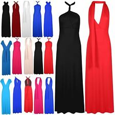 Ladies Bandeau Wrap Tie Knot Multiway Womens Long Dress Strappy Plain Maxi Top