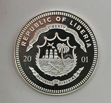2001 Liberian 20 Dollar Proof Silver Foreign Coin *Q56