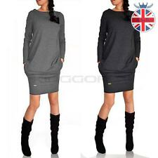 Womens Winter Long Sleeve Mini Party Jumper Tops Ladies Bodycon Evening Dress