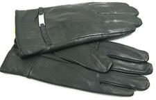 BLACK WOMEN'S LAMBSKIN LEATHER WINTER DRIVING EVERYDAY GLOVES M S L