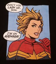 "Captain Marvel (Marvel Comics) Mens T-Shirt -  ""Don't You lady Me, Son"" Avenger"