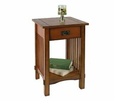 FAME-IDFAC209-Furniture of America Liverpool 1-Drawer End Table, Antique Oak