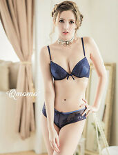 Floral Bra & Thong Matching Set Knicker Brief Lingerie Padded Mesh Netting D.N