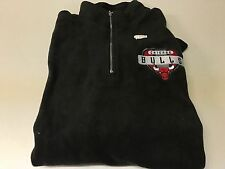 VINTAGE PRO PLAYER CHICAGO BULLS BLACK EMBROIDERED 1/4 ZIP SWEATSHIRT