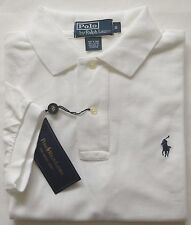 NEW Authentic Men's Ralph Lauren Polo Mesh Shirt White CLASSIC FIT Size S,M,L