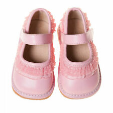 Girl Leather Toddler Light Pink Ruffle Squeaky Shoes Sizes Available 1,2,5,6 & 7