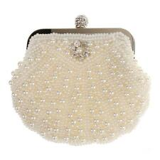 Luxury Beaded Vintage Pearls Evening Clutch Handbag for Women Ladies