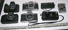 BIG LOT OF 7 FILM & DIGITAL CAMERAS NIKON PENTAX FOR PARTS OR REPAIR *CHEAP*