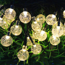6M Christmas Xmas Garden Party Wedding LED String Fairy Lights with solar panel