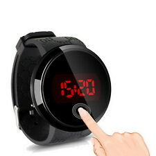 Fashion Waterproof Mens Watch LED Touch Screen Date Silicone Wrist Watch @