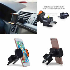 360° 2in1 Car Air Vent/CD Slot Mount Holder Stand for Smart Phone iPhone Samsung