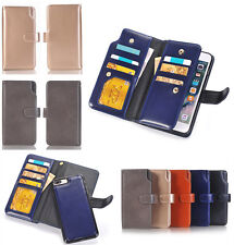 Double Flip Book PU Leather Wallet Card Holder Case Cover for iPhone 6 6s 7 Plus