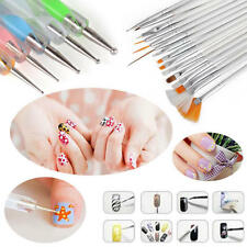 20Pcs Acrylic Nail ART BRUSHES Kit Painting Dotting Pen Set Design Drawing Tools