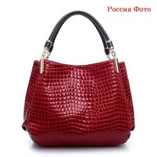 Women Bag Ladies Pattern Handbag Shoulder Bag Crocodile Bag-red