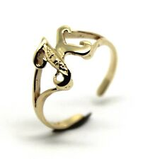 KAEDESIGNS, GENUINE, SOLID YELLOW OR ROSE OR WHITE GOLD 375 INITIAL TOE RING  K