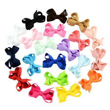 2/20pcs Lot Baby Girls Toddler Hair Ribbon Bows Alligator Hair Clips Bow Hairpin