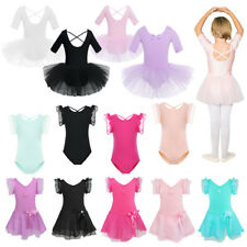 Girls Kids Ballet Dance Dress Toddler Leotard Tutu Skirt Dancewear Costume US