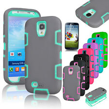 Hybrid Rubber ShockProof Protective Hard Case Cover For Samsung Galaxy S4 i9500