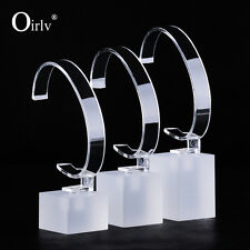 Oirlv Jewellery Display Stand for Watches Bangle Bracelet Acrylic Set of 3