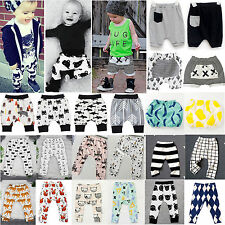 Kids Infant Clothes Boys Girls Harem Bottoms Long Jogger Pants Trousers Leggings