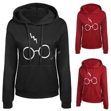 Fashion Women Casual Long Sleeve Letter Print Pocket Hooded Pullover Hoodie