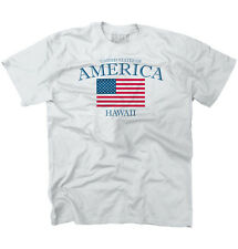Hawaii State Patriotic Gift Ideas American USA T Shirt Flag T-Shirt Tee