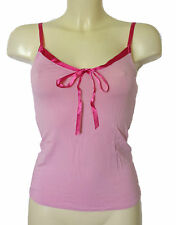 BNWT Pink Ladies Soft Touch Camisole Top with Satin Trim Size 8 & 10