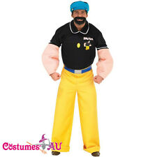 LICENSED ADULT MENS POPEYE MUSCLE ARM BRUTUS BLUTO COSTUME HALLOWEEN FANCY DRESS