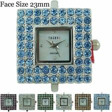New Ladies Couture Square Beading Rhinestone Fashion Watch Face 23mm