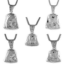 """.925 Sterling Silver Mother Mary Charm Pendant 18"""" Italian Box Chain"""