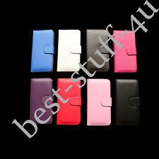 Flip Magnetic Leather Wallet Card Case Cover Fits IPhone Apple Mobile Phone ^50