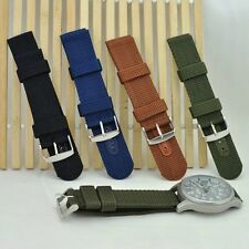 Durable Men Military Army Nylon Fabric Wrist Watch Band Strap Cool 18/20/22/24mm