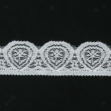 5/3Yard Different Wide Lotus Floral Stretch Lace Trim DIY Sewing Applique