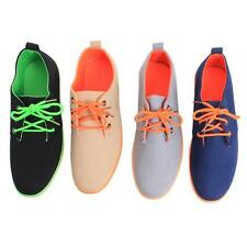 Fashion Men's Casual Sports Shoes Lace Up Sneakers Canvas Shoes Flat Shoes B
