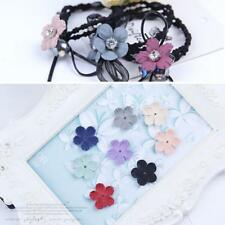 30pcs/pack Handmade Velvet Fabric Flower Applique Headband Wedding Crafts Decor