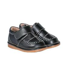 Boy's Leather Toddler Black Dress Squeaky Shoes