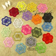 multicolor Lace flower iron /sew on organza embroidered patch applique transfer
