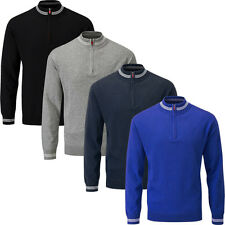 Stuburt Thermal Windproof Sweater 1/4 Zip Mens Golf Pullover-Fully Lined 2016