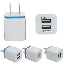 Travel Dual Port AC USB Home/Wall Charger Adapter for iPhone Samsung Galaxy LG