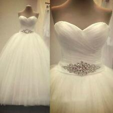 In Stock New White/Ivory Wedding Dress Bridal Gown Ball Size 6 8 10 12 14 16 18