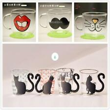 Cat Glass Milk Tea Mugs Fashion Clear Office Coffee Mug Cups Home Water Cup