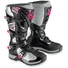 Fox Womens Comp 5 Boots - 05029-285-11  ( Ladies Size 11 - Black/Pink )