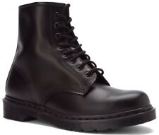 Dr. Martens Men's 1460 Mono Casual Lace Up Leather Ankle Boots Black Smooth