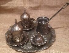 2 person turkish porcelain Coffee set with pot tray sugar bowl and cups gift set