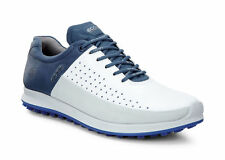 New ECCO Mens Biom Hybrid 2 HM Golf Shoes - Concrete/White/Denim(151524-56416)