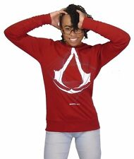 OFFICIAL ASSASSINS CREED (MOVIE & GAME) SWEAT SHIRT 'WIREFRAME' RED