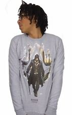 OFFICIAL Assassins Creed (Movie & Game) Grey Mens SWEAT SHIRT - 'Warrior'